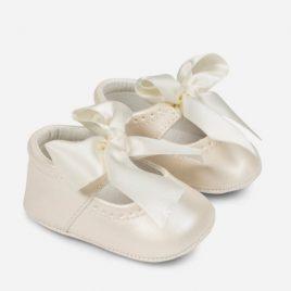 Zapato mercedita de polipiel nacarada. Mayoral-NewBorn (Ref. 9810)