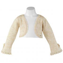 Rebeca infantil con hilo dorado. Miranda textil (Ref. 23/0200/R)
