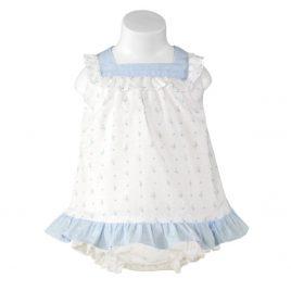 Vestido plumeti con braguita. Miranda textil (Ref. 23/0031/VB)