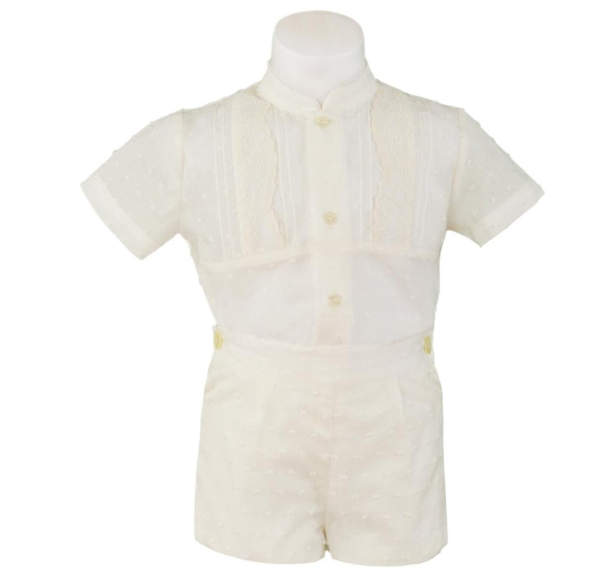 22c62cc51 Conjunto bebe en plumeti con camisa y pantalon corto. Miranda (Ref ...