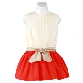 Vestido infantil con lazo. Miranda textil (Ref. 23/0341/V)