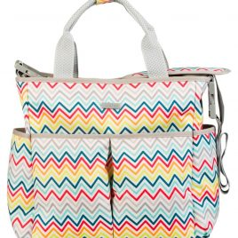 Bolso maternal + Cambiador TucTuc Zig Zag African