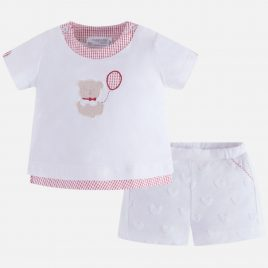 Conjunto camiseta y pantalon corto oso. Mayoral-NewBorn (Ref. 1202)