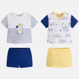Set de 2 conjuntos de camiseta y pantalon corto. Mayoral-NewBorn (Ref. 1628)