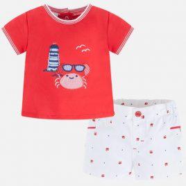 Conjunto camiseta y pantalon corto cangrejo. Mayoral (NewBorn) (Ref. 1232)