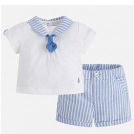 Conjunto baby camiseta y pantalon corto a rayas. Mayoral (NewBorn) (Ref.1206)