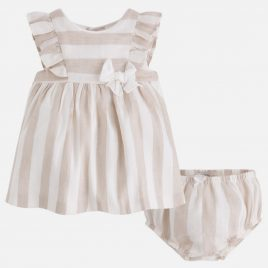Vestido lino niña a rayas. Mayoral (NewBorn) (Ref. 1818)