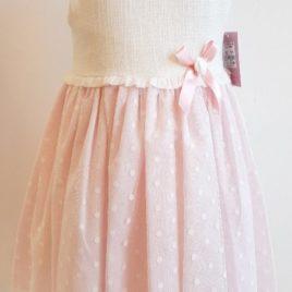 Vestido con tul de plumeti lunares. Colección Alhambra YOEDU (Ref. 0500)