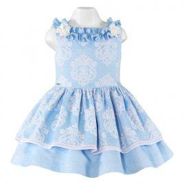 Vestido Infantil con estampado brocado Miranda (Ref. 23/0204/V)