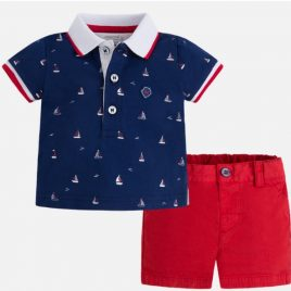 Conjunto polo y pantalon corto. Mayoral-New Born (Ref. 1228)