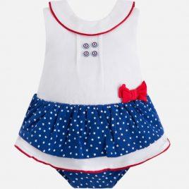 Pelele corto falda combinado. Mayoral-New Born (Ref. 1878)