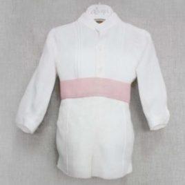 Conjunto bautizo camisa y pantalón corto. Artesanía Amaya (Ref. 111304)