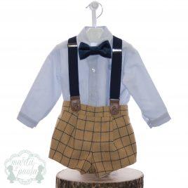 Camisa y pantalón corto con tirantes, colección Montana. MARTA Y PAULA (Ref.1855)