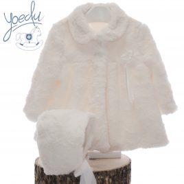 Abrigo Pelo bebe, con capota. Yoedu (Ref. 3980)