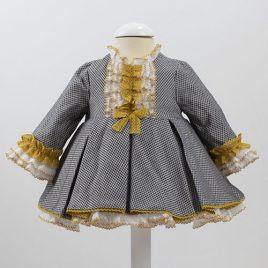 Vestido Pata Gallina talle alto. Colección Gris Loan Bor (Ref. 1824452)
