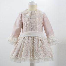 Vestido Encaje talle bajo. Colección Rosa Loan Bor (Ref. 1825406)