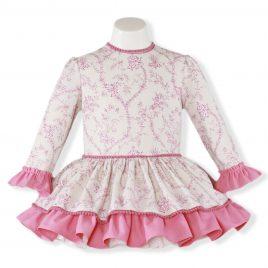 Vestido Infantil Manga Larga Estampado. Miranda (Ref. 24/0243/V)