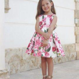 Vestido Ceremonia Estampado Rosas. Artesanía Amaya (Ref. 311423)