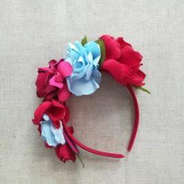 Diadema Ceremonia Flores Tela. Artesania Amaya (Ref.311431D)