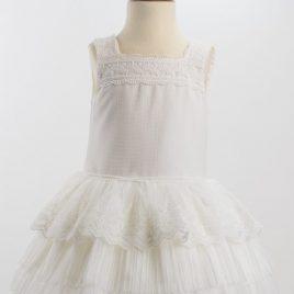 Vestido Falda Plisada y Encaje de Manga a la Sisa. Loan Bor (Ref.1918418)