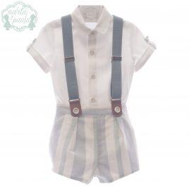 Camisa y Pantalón Corto con Tirantes, Colección Cupido. MARTA Y PAULA (Ref.0256)