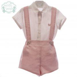 Camisa y Pantalón Corto con Tirantes, Colección Afrodita. MARTA Y PAULA (Ref.0257)