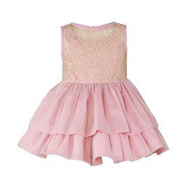 Vestido Infantil Encaje y Tul Plumeti. Miranda (Ref. 27/0226/V)
