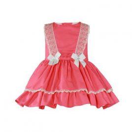 Vestido Infantil Tono Coral. Miranda (Ref. 27/0275/V)