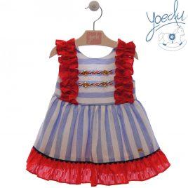 Vestido Infantil Marinero . Familia Camelia. Yoedu (Ref. 0535)