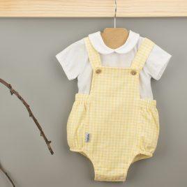 Pelele Con Camiseta C/Bebe Color Amarillo. Familia Vichy. Babidu. (Ref. 10230)