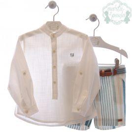 Conjunto Camisa, Bermuda Corta y Cinturón . Familia Klimt. Marta y Paula (Ref. 1200)