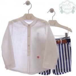 Conjunto Camisa, Bermuda Corta y Cinturón . Familia Monet. Marta y Paula (Ref. 1202)