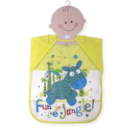 Babero Jungle en PEVA con Mangas. Interbaby (Ref. 00278)