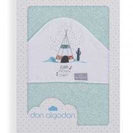 Capa de Baño Dakota Verde Agua 100% Algodon. Don Algodon (Ref. D 1199)