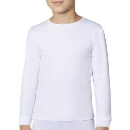 Camiseta Termal 100% Algodon Color Blanco. Ysabel Mora (Ref. 18301)