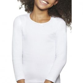 Camiseta Termal 100% Algodon Color Blanco. Ysabel Mora (Ref. 18303)