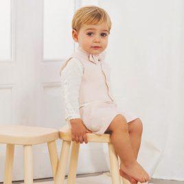 Conjunto Niño Arras de Camisa Manga Larga y Pantalón Corto . Artesanía Amaya (Ref. 53328)