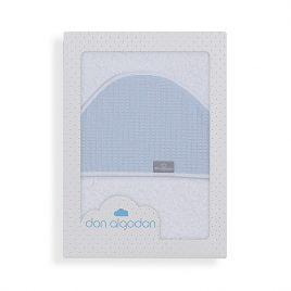 Capa de Baño Astrid Celeste 100% Algodon. Don Algodon (Ref. D 1196)